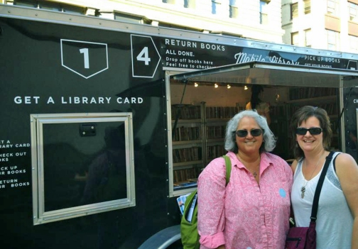 Anita and I visiting the Mobile Library