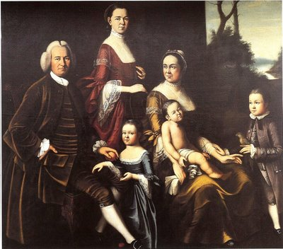 1763-65 Henry Benbridge (American colonial era artist, 1743-1812)_  Gordon Family (Including his stepfather & mother Mary Clark Benbridge Gordon)