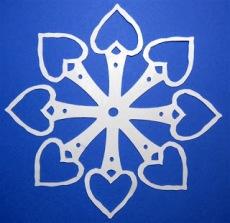 open heart snowflake