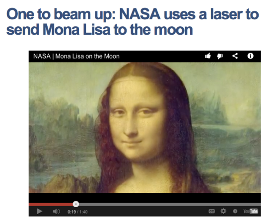 Mona in space