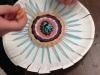Art Club Weaving on PaperPlates