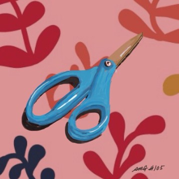 April 16 (#105): Draw some scissors App: Brushes Scissors cut. As with all things, we decide whether we use them to create beauty or destruction. Henri Matisse used them to create beauty: www.youtube.com/watch?v=GN0okOq8Hyc ...✂ #everydaydrawingchallenge #brushes