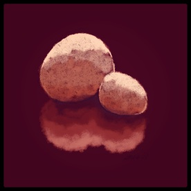 "April 30 (#119): Draw a rock App: ProCreate For years my son and I spent New Year's Eve in Rockport with dear friends. After a hearty breakfast the next day we would undertake ""the enforced march""... a 3 to 5 mile loop around the town. We would stop at the beach to pick up some rounded rocks. Everyone pitched in to carry as many as they could. After a few years and a lot of rocks later, my son and friends used them to create a ""Roxaboxen"" in the woods in our backyard. All these years later these 2 rocks remain. So many memories with this drawing today! #everydaydrawingchallenge #procreate"