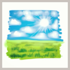 "April 10 (#99): Draw something that represents a Spring resolution of yours App: ArtStudio ""Get outside as much as possible"" is #1 on my Spring resolution list...so I did a quick sketch so I could get outside...☀ #everydaydrawingchallenge #artstudio"
