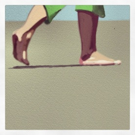 April 14 (#103): Draw some exercise equipment or what you use to stay fit App: ArtRage I like to walk. I need to do it more...especially on the beach... #everydaydrawingchallenge #artrage #vacation