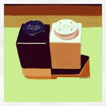 April 15 (#104): Draw salt and pepper shakers App: Brushes LEGO shakers from LEGOLand in England from our month there in 1998. I collect salt and pepper sets so the hardest thing about this task was choosing which set to draw... #everydaydrawingchallenge #brushes