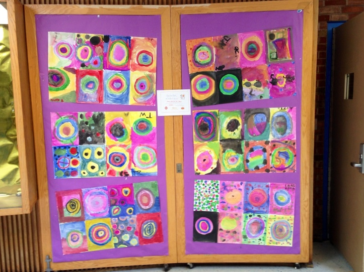 Collaborative Dot Day Murals outside the Miscoe Hill auditorium...