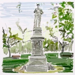 October 12 (#284): Draw your downtown App: ArtRage Tool: Watercolor Our downtown is guarded by this soldier and all the heroes his statue commemorates...