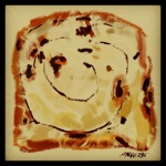 October 23 (#295): Draw some toast App: ArtRage Tool: Oil Pastel - Cinnamon raisin toast - yummers! Got to go; breakfast is served...