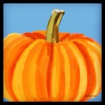 October 24 (#295): Draw something orange App: ArtRage Tool: Oil Paint Here you go, pumpkin...