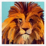 December 16 (#350): Draw a zoo animal App: ArtRage Tool: Oil Paint - King of the jungle zoo, baby... rawr!