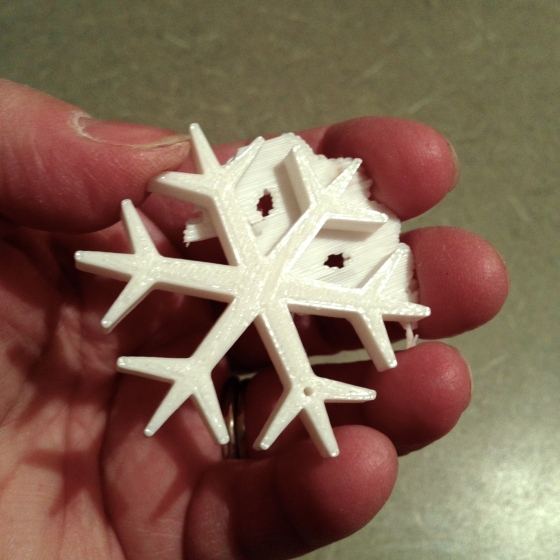 This is the snowflake with some of the backing remaining