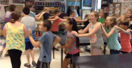 "Conga Line dance to Pharrell Williams' ""Happy""…click on the photo to let the dancing begin!"