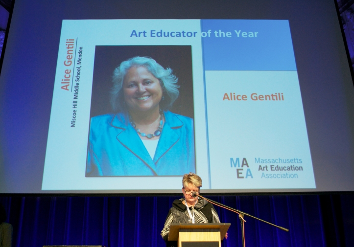 Eva Kearney announcing my award