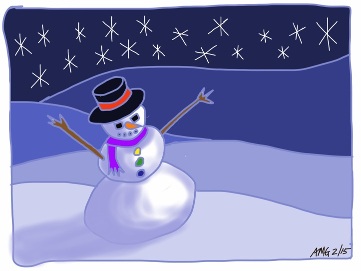 Guided Drawing Snowman