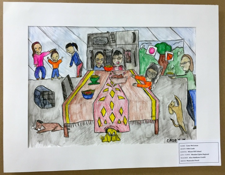 Watercolor Pencil Family Portrait by Casey McGowan