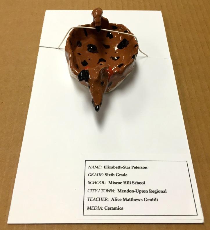 Ceramic Dog by Elizabeth-Star Peterson