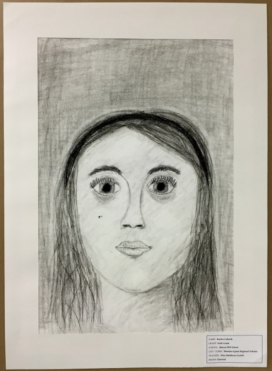 Charcoal Self Portrait by Kaylee Lukasek