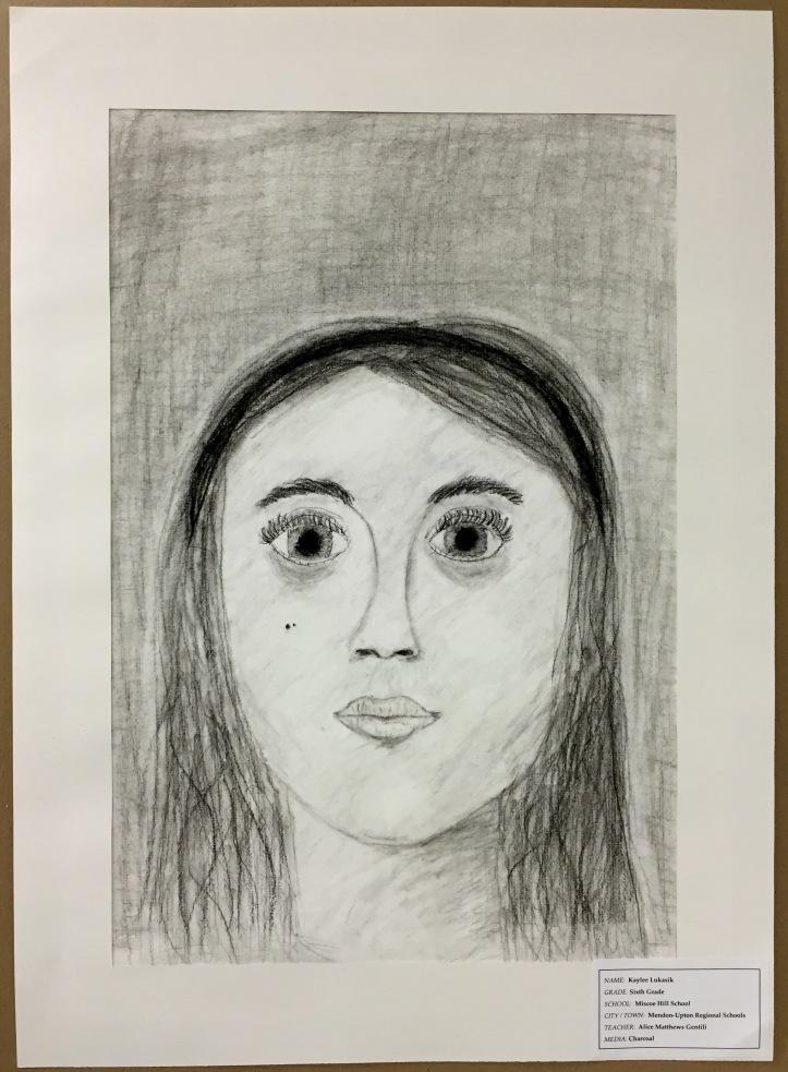 Charcoal Self Portrait by Kaylee Lukasek