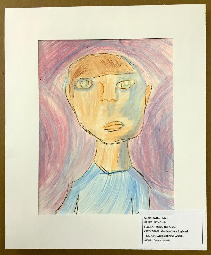 Colored Pencil Self Portrait by Nathan Jokela