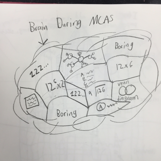 Creativity spark: Draw your brain during MCAS
