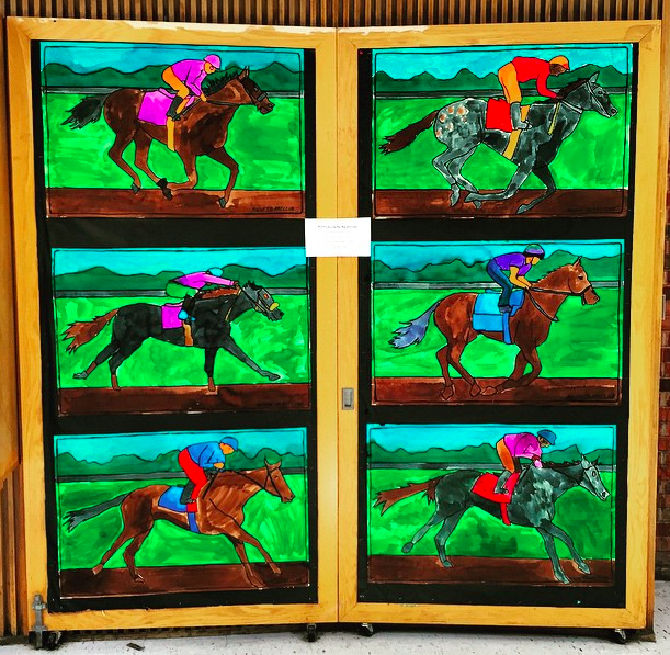 Kentucky Derby posters for the Upton Men's Club