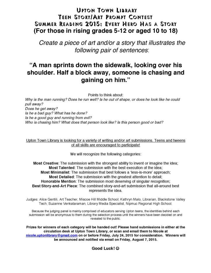 Teen Story and Art Prompt