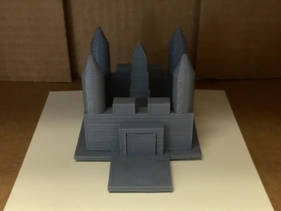 3D Designed & Printed Castle