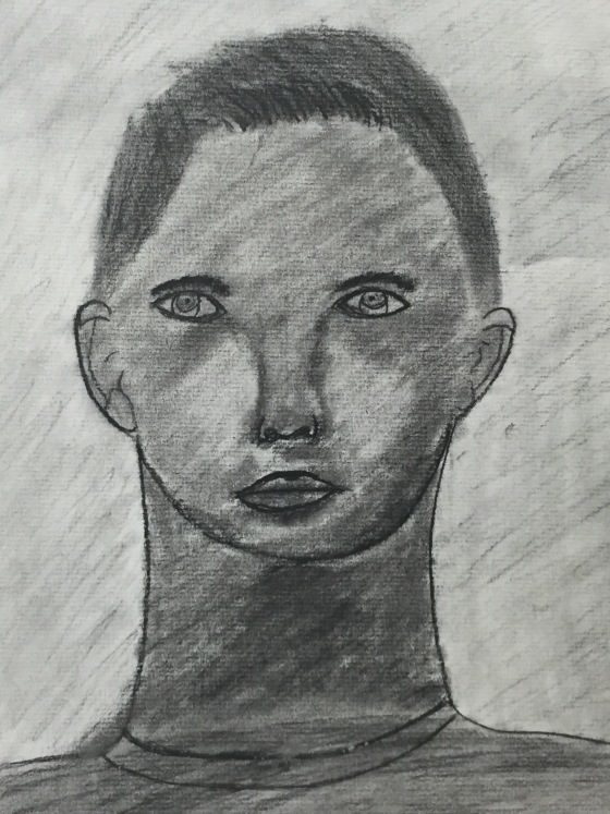 Self Portrait/Charcoal Pencil