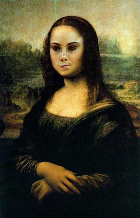 Mona Lisa is not impressed...