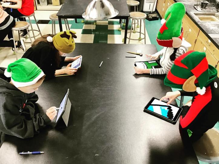 Cozy, quiet, digital art making...by elves?