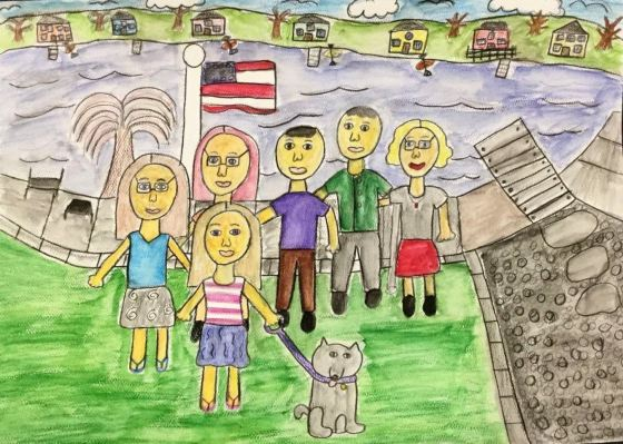 Ashlyn Seligman/Family Portrait/Watercolor Pencil