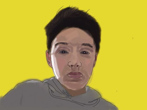 Alex Heather/Self Portrait/Rotoscoped Digital Art