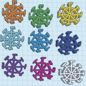 Caelan S - I did it this way because I thought it would be cool to do snowflakes in different colors. My favorite part is probably how you can make any 3D shape