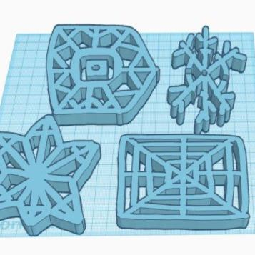 Corbin D - The surprising part of this object was how a small drawing could turn into a 3D object. By using the scribble tool I learned that I can make a drawing and turn it into a 3D form. If I were to make this artwork again I would make 1 snowflake and have it as neat as I can with straight lines. My least favorite part of the artwork is that the snowflakes aren't the neatest they can be, but it still looks good. I wonder how an entire blizzard of snowflakes would look!?