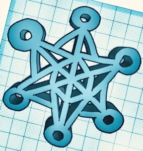 This 3D snowflake is the snowflake I made on Tinkercad. I tried to make it simple and complex at the same time and I think i accomplished that in this project. It was also fun to explore the new app I made this on.
