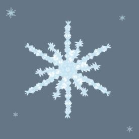 Jack P - My favorite part is I like how it came out I would make it better and add more little snowflakes It surprised me how you could use a brush that did that texture Well I used the tool that makes a little x and it looks like a snowflake texture so I dotted a bunch of them down