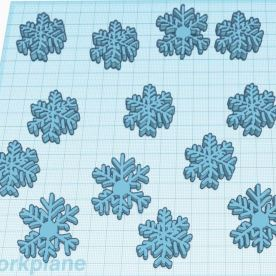 Parker T - My favorite part is the amount of snowflakes. My least favorite part is the shape of some snowflakes. The inspiration of this artwork is that it's winter, so I decided to make a blizzard. If I could do this again I would change the snowflakes because they look a little weird. I learned that the scribble tool in Tinkercad is helpful. I was surprised by how easy it was to use the scribble tool and make snowflakes. I would definitely recommend trying this. To make this, I drew some snowflakes with the scribble and copied some to make a lot.